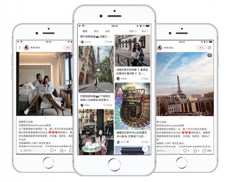 The monetization on the Chinese Xiaohongshu platform